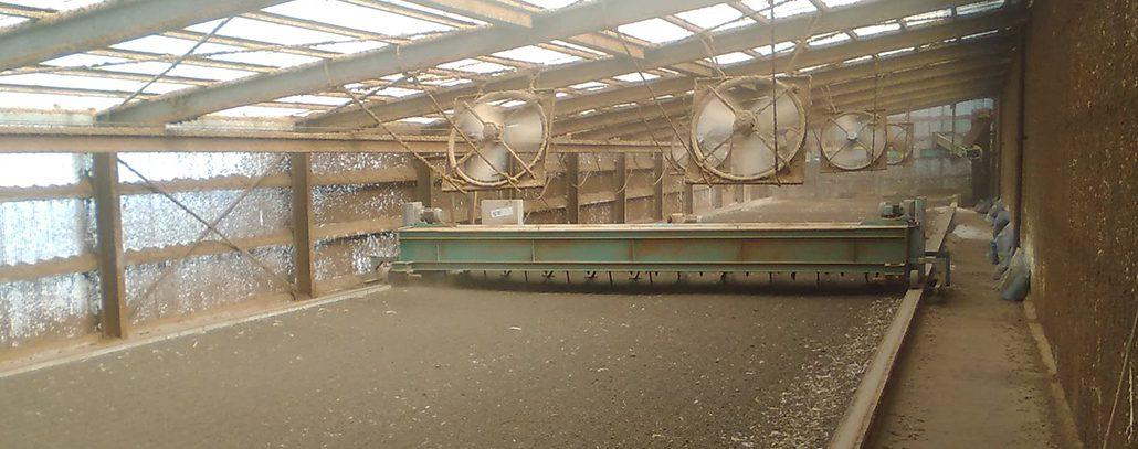 鶏糞の処理施設