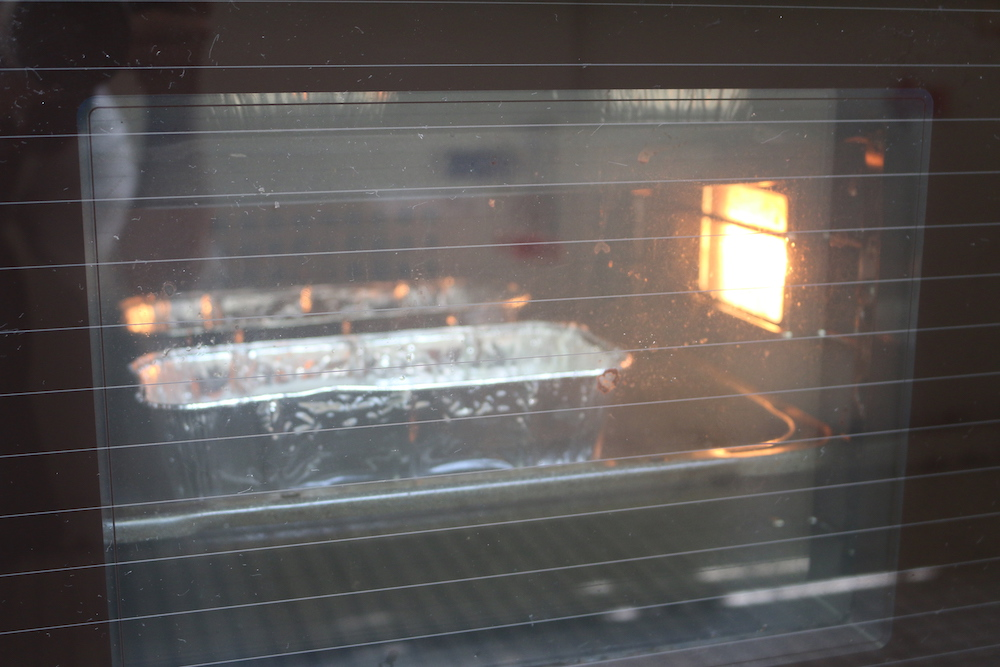 baking bread in the oven